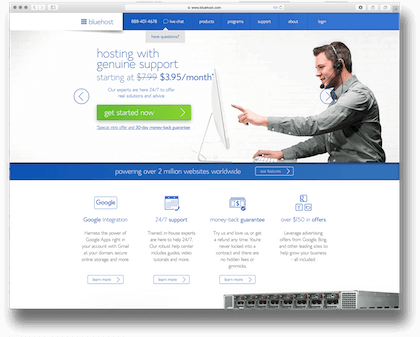 bluehost web hosting 2016